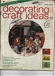 Click here to enlarge image and see more about item J9108: Decorating Craft ideas made easy magazine - 1974