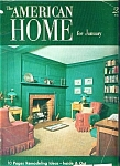 Click here to enlarge image and see more about item J9768a: The American Home - January  1952
