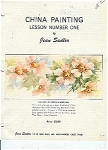 Click here to enlarge image and see more about item JS1: CHINA PAINTING LESSON 1 BY JEAN SADLER  OOP