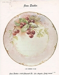 Click to view larger image of ~JEAN SADLER~CHERRIES DESIGN~49~VINTAGE (Image1)