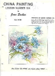 Click here to enlarge image and see more about item JS6A: CHINA PAINTING LESSON 6 BY JEAN SADLER  OOP