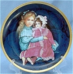 Click here to enlarge image and see more about item K10: SARA and MARIE~LE~by KAREN NOLES~DOLL PLATE