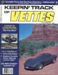 Click here to enlarge image and see more about item KEP090:  1985 KEEPIN TRACK Corvette Magazine