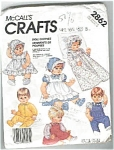 McCall's Doll Clothes Pattern Uncut 13 - 18IN