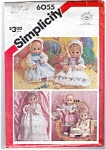 Simplicity Doll Party Dress Pattern Medium