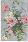 Click here to enlarge image and see more about item KLEIN010: C.KLEIN~VINTAGE~ROSES~POST CARD~1910