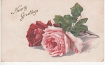 Click to view larger image of VINTAGE~CATHERINE KLEIN~ROSES~POSTCARD~1915 (Image1)