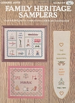 Click here to enlarge image and see more about item KNIT206: FAMILY HERITAGE SAMPLERS CROSS STITCH PATTERN