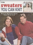 Click here to enlarge image and see more about item KNIT24: 16 Sweater~YOU CAN KNIT~Book sz 32-50