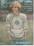 Click here to enlarge image and see more about item KNIT33: BRUNSWICK~VINTAGE~BALYBRAE TRIO~TWEED FASHION