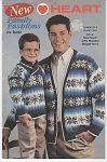 Click here to enlarge image and see more about item KNIT40: VINTAGE~RED HEART~FAMILY FASHIONS~