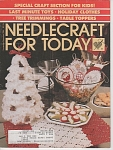 Click here to enlarge image and see more about item KNIT80: VINTAGE~NEEDLEWORK~CHRISTMAS~1986~NOV-DEC