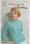 Click here to enlarge image and see more about item KNIT96: PATON'S~ACCENT ON CROCHET by BEEHIVE~BK 99