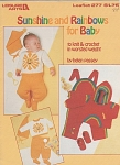 Click here to enlarge image and see more about item LA277: VINTAGE RAINBOW BABY SETS KNIT CROCHET
