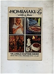 Click here to enlarge image and see more about item M0513: Homemaking with a Flair - Fall Copyright 1970