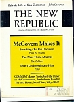 Click here to enlarge image and see more about item M0755: The New Republic magazine- July 22, 1972