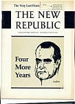 Click here to enlarge image and see more about item M0761: The New Republic magazine - November 18, 1972