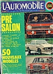 L'automobile (French) - 328 Septembre 1973