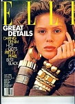 Click here to enlarge image and see more about item M0793: ELLE magazine - July 1988