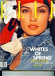 Click here to enlarge image and see more about item M0976: Elle Magazine - March 1989