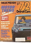 Click here to enlarge image and see more about item M10008: Motor Trend magazine- July 1971