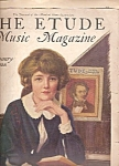 Click here to enlarge image and see more about item M10105: The Etude music magazine -  January 1928