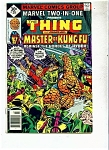 The Thing and Shanc-chi comic - # 29 July 1977