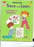 Click here to enlarge image and see more about item M1536: Preschool Trace and Learn, alphabet & numbers - # 1413