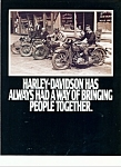 Click here to enlarge image and see more about item M1845: Harley Davidson brings people together brochure -