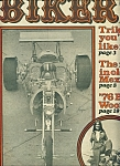 Click here to enlarge image and see more about item M1915: BIKER  - Motorcycle Mag. newspaper - Oct. 20, 1976