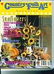 Click here to enlarge image and see more about item M2597: Country Folk Art magazine - August 1993