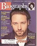 Biography magazine -  Dec. 2003