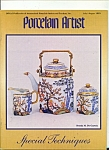 Click to view larger image of Porcelain Artist - JulyAugust 1995 (Image1)