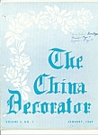 The China Decorator - January 1960