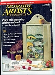 Click here to enlarge image and see more about item M4422: Decorative Artist's workbook - June 1989