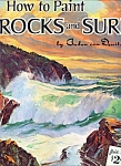 Walter Foster Art book - Rocks and Surf  painting - # 1