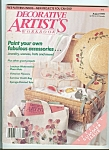 Click here to enlarge image and see more about item M4851: Decorative Artist's workbook - August 1989