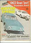 Click here to enlarge image and see more about item M4984: Motor Trend -  July 1962