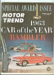 Click here to enlarge image and see more about item M4988: Motor Trend Special award issue - February 1963