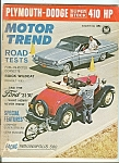 Click here to enlarge image and see more about item M4991: Motor Trend - August 1962