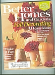 Better Homes and Gardens -  October 2007