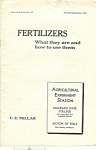 Fertilizers - September 1933