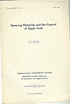 Spraying materials -control of apple scab catalog - 193
