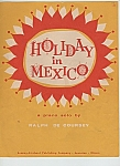 Click here to enlarge image and see more about item M5532: Holiday in Mexico music sheet  -copyright 1958