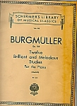 Click here to enlarge image and see more about item M5540: Burgmuller  music for the piano -copyright 1930