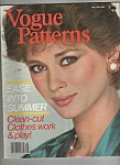 Click here to enlarge image and see more about item M5971: Vogue Patterns  May/June 1980