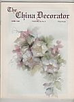 Click here to enlarge image and see more about item M6329: The China Decorator -  April 1985