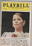 Playbill magazine- GLENDA JACKSON - April 1985