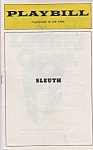 Playbill Playhouse in the Park - SLEUTH  program 1971