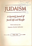 Judaism -   Journal  - Fall 1961